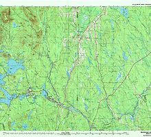 Maine USGS Historical Map Millinocket 808086 1985 100000 by wetdryvac