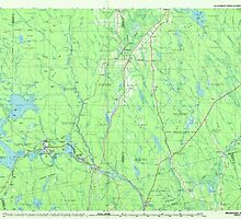 Maine USGS Historical Map Millinocket 808087 1985 100000 by wetdryvac