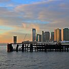 Lower Jersey City Taken From Pier A Hoboken by pmarella