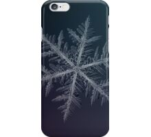 Neon, snowflake macro photo iPhone Case/Skin