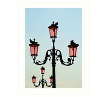 Venetian Street Lights Art Print