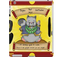 Super Fat Catfucius iPad Case/Skin