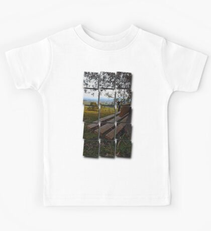 Bench with nature and scenery | landscape photography Kids Tee
