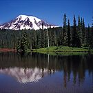 Mt Rainier with Reflection Lake by Jeff Hathaway