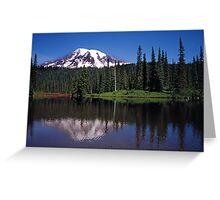 Mt Rainier with Reflection Lake Greeting Card
