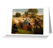 Emanuel Gottlieb Leutze - Mrs. Schuyler Burning Her Wheat Fields on the Approach of the British Greeting Card