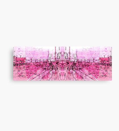 pink - huddersfield train stationxx Canvas Print