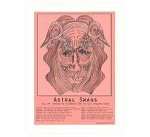 Astral Swans Tour Poster Art Print