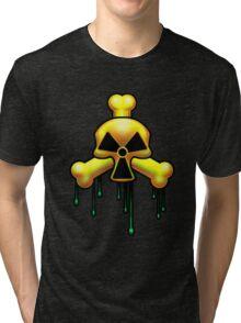 Dripping crossbones. Tri-blend T-Shirt