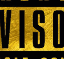 WARNING - GOLD VERSION Sticker