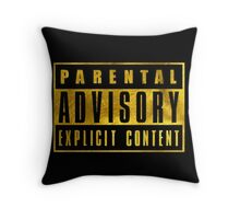 WARNING - GOLD EDITION Throw Pillow
