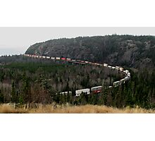 canadian rail way rustic cliffs lake superior Photographic Print