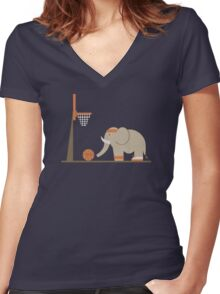Elephants Can't Jump Women's Fitted V-Neck T-Shirt