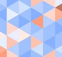 Blue-brown triangles pattern by HelgaScand
