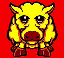 Year Of The Sheep Yellow and Red  by Sookiesooker