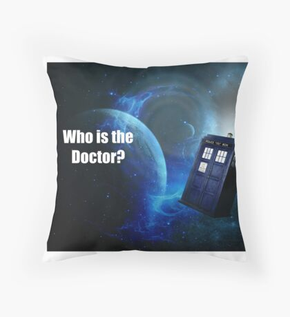 Who is the Doctor? Throw Pillow