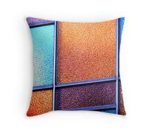 Coloured Glass. Throw Pillow