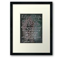 matthew 6:2-4 Framed Print