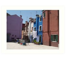 Out to dry - Barano -  street or backyard? Art Print