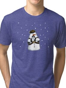 Leather daddy snow man Tri-blend T-Shirt