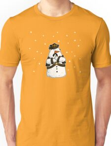 Leather daddy snow man Unisex T-Shirt