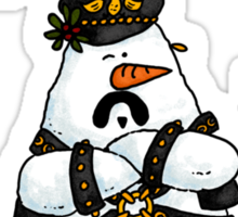 Leather daddy snow man Sticker