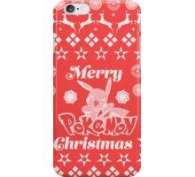 Pokemon Christmas Card Jumper Pattern iPhone Case/Skin