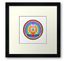 Meditation & the Chakras III Framed Print