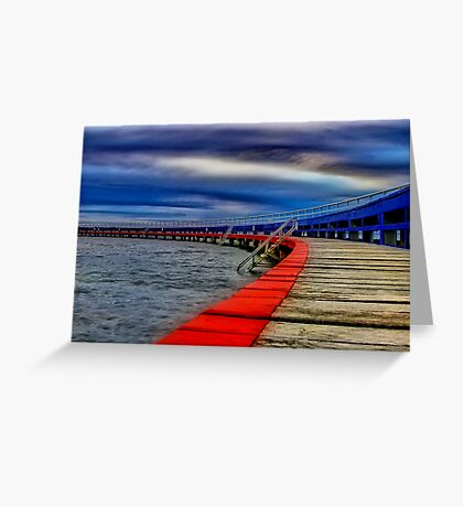 """""""Evening on the Promenade"""" Greeting Card"""