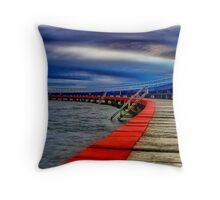 """Evening on the Promenade"" Throw Pillow"
