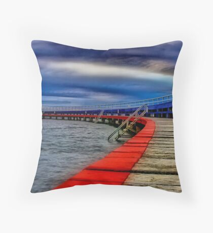 """Evening on the Promenade"" Throw Pillow"