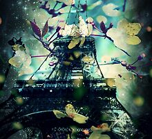 Paris in Spring, Green by LLStewart