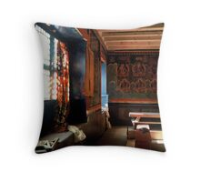 A Temple Reborn Throw Pillow