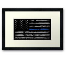 Blue Line (Gray) Framed Print