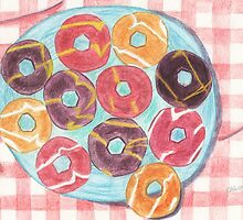 a plate of party rings.  by KBlackmore