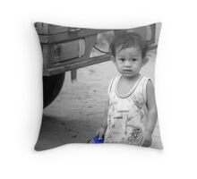 Khmer Boy Throw Pillow