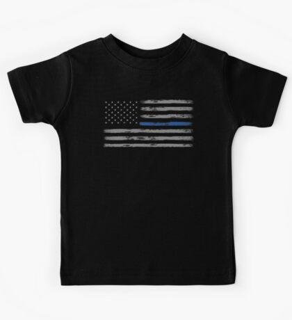 Blue Line (Gray) Kids Tee