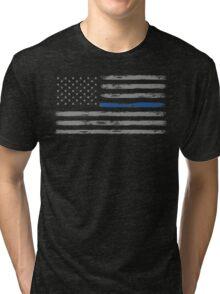 Blue Line (Gray) Tri-blend T-Shirt