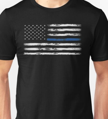 Blue Line (White) Unisex T-Shirt