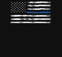 Blue Line (White) Unisex T-Shirt