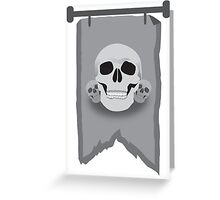Banner with three skulls Greeting Card
