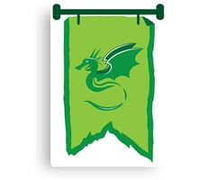 Banner standard with green dragon Canvas Print