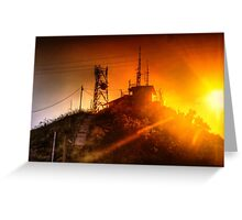 Castle Hill Sunset Greeting Card