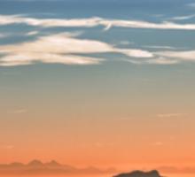 The Alps: Sunset over fog Sticker
