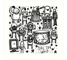 Doctor Who doodle Art Print