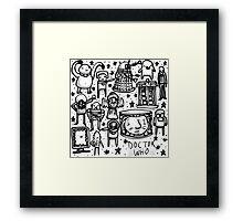 Doctor Who doodle Framed Print