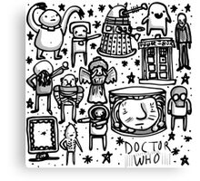 Doctor Who doodle Canvas Print