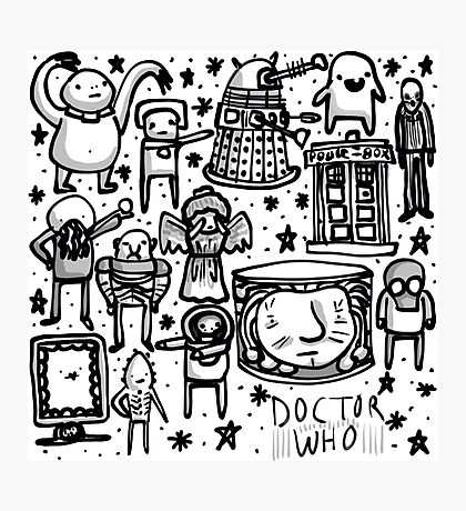 Doctor Who doodle Photographic Print