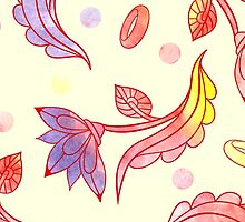Hand drawn floral ornaments with flowers and rings. by -ashetana-
