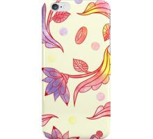 Hand drawn floral ornaments with flowers and rings. iPhone Case/Skin